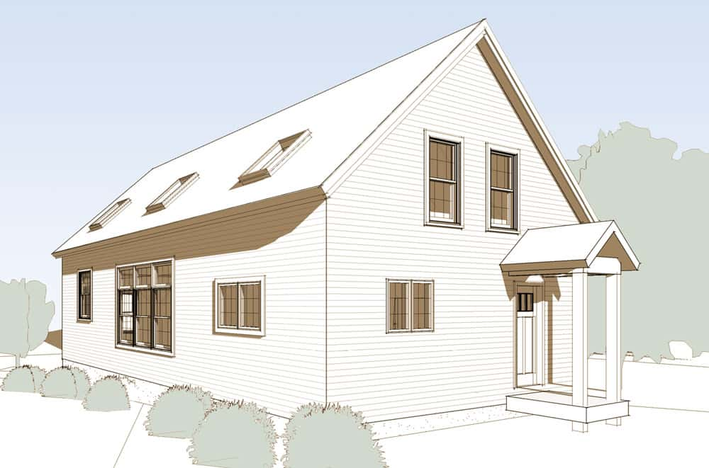 Monadnock Front 3/4 Elevation