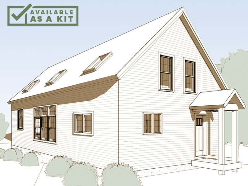 The Monadnock - 2-3 Bedrooms, 1.5-2.5 Baths, 2180 sq ft(Footprint: 36'x28')When we choose a home site, views are top of mind. So why close ourselves off from the outdoors when we put up the walls of our dream home?Details