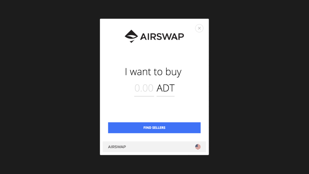 EMBEDDABLE ANYWHERE   Trades in the marketplace are made peer-to-peer through a browser on any website. Try it today on  AdChain , a token-curated registry of high-quality websites for advertisers. If you run an Ethereum project or website and wish to integrate trading, it's quick and easy. Reach us at  partner@airswap.io .