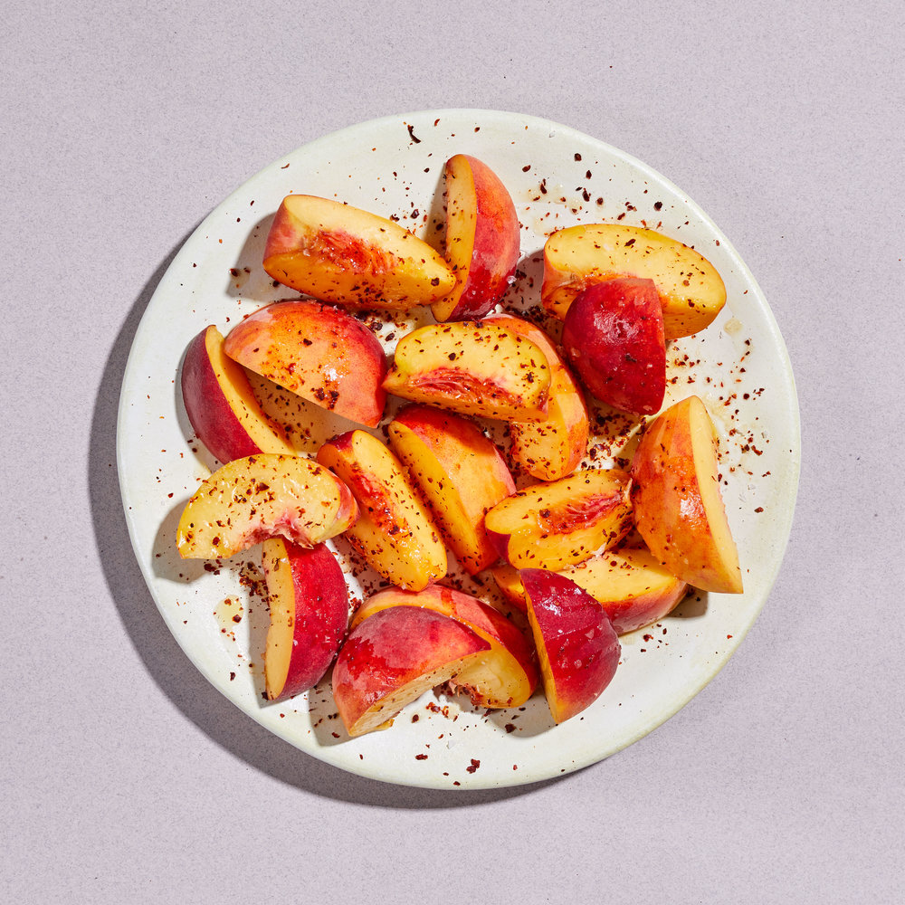 Dig Inn Peaches with Silk Chili & Lime (Recipe)