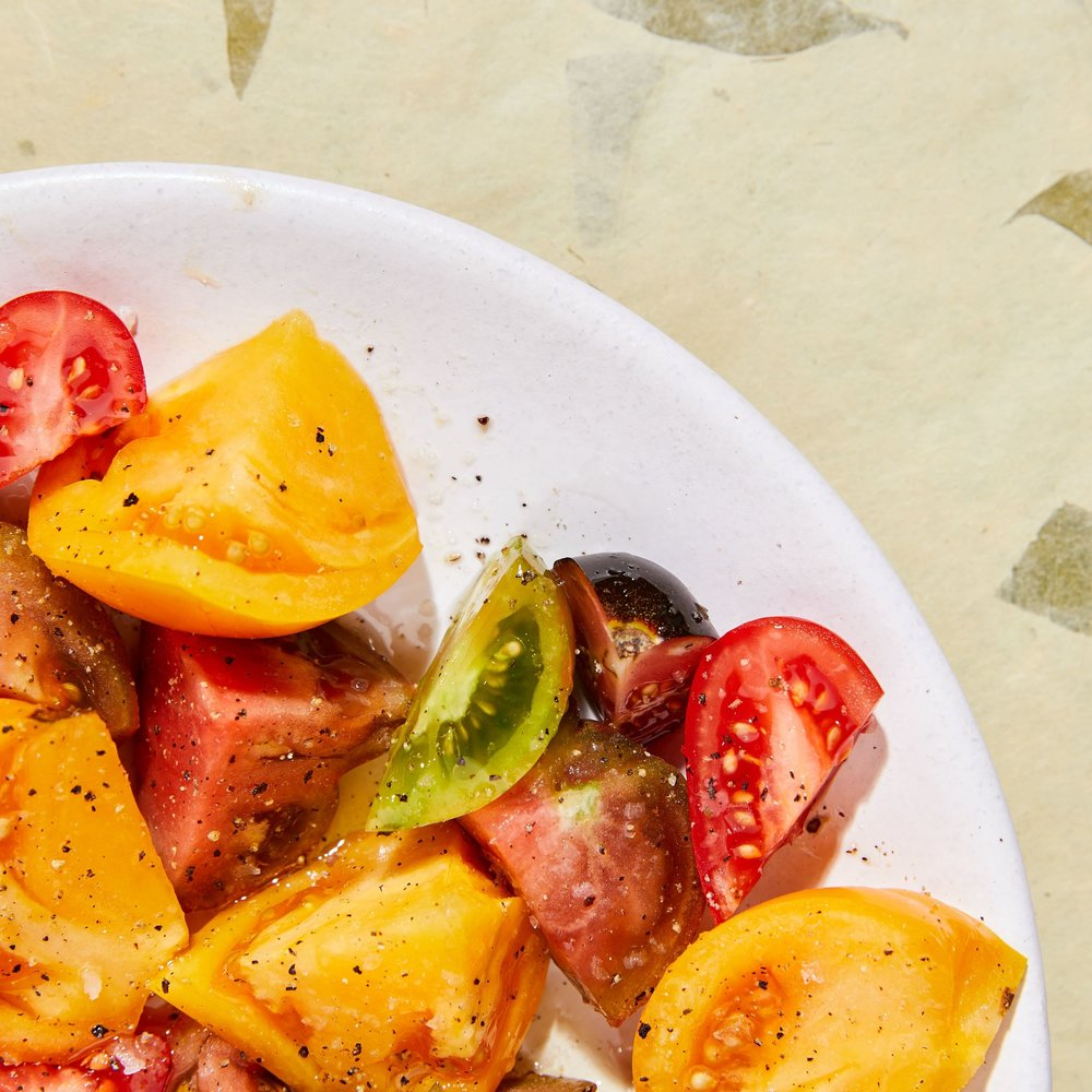 simple heirloom tomatoes -