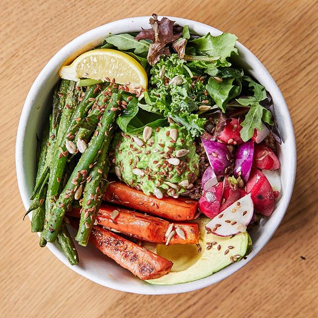 Hudson Valley Bowl drops tomorrow. ⠀ ⠀ Featuring spring vegetables grown by Hudson Valley farms. Served with wholegrain bread that would make a hippie mom proud. Order before March 3 and we'll donate a percentage to the Young Farmer's Coalition. Available exclusively on the app. Visit link in bio to download.⠀