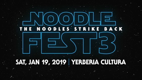 It's 2019! We did it. Come see our first show of the year on Saturday Jan. 19 at Yerberia Cultura for Noodlefest 3. We'll have our new album, Sanctuary, for sale for $10 along with koozies and buttons. Let's do the thing!