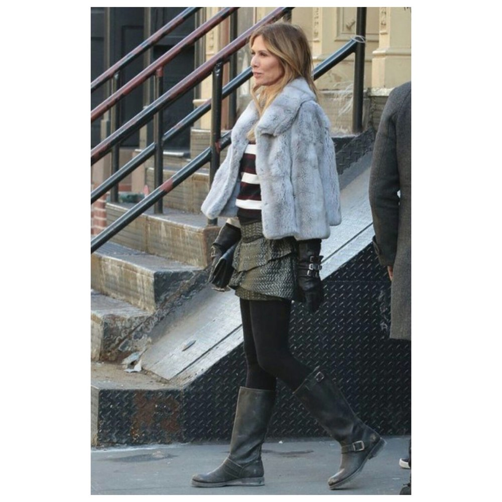 Caroline filming in SoHo for RHONYC (2016)