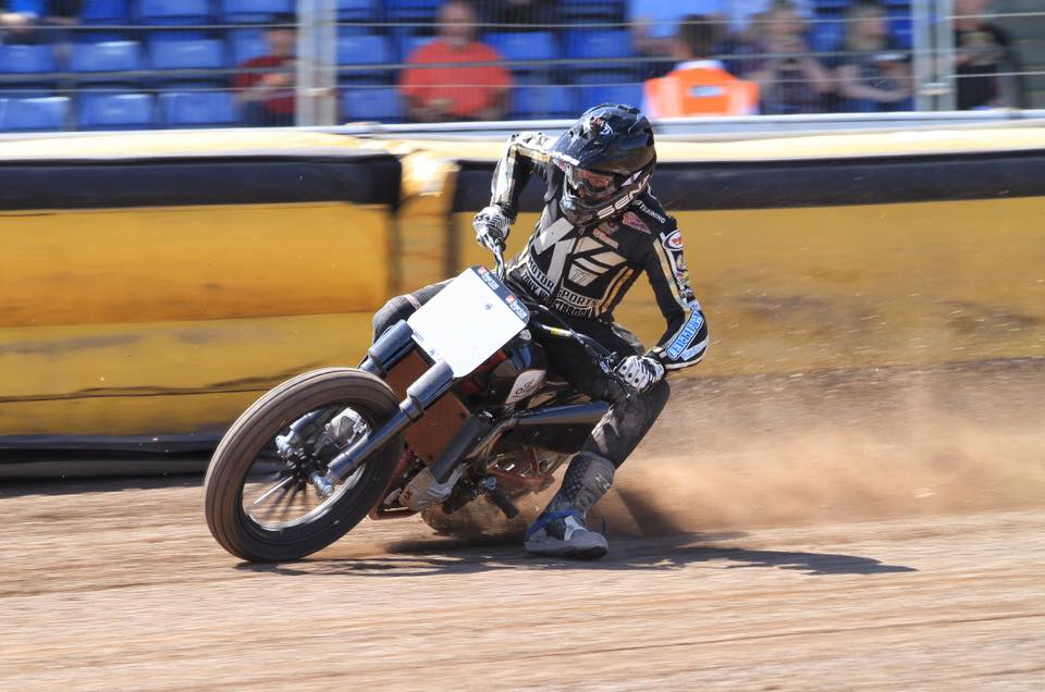 Johnny Lewis laying down laps in Peterborough 2018