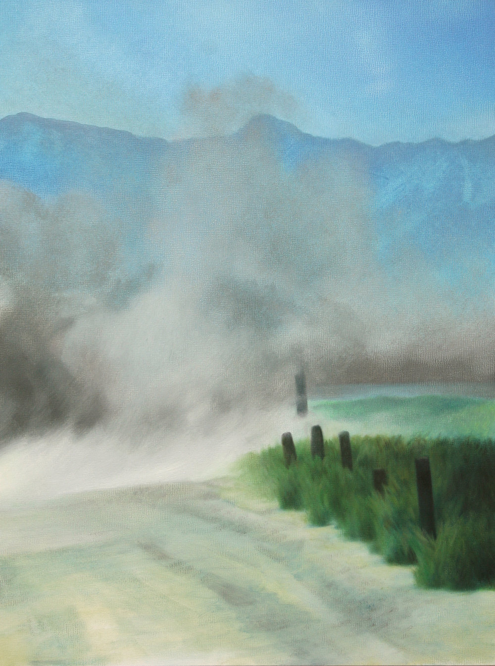 "Logar Province (Afghanistan), 11"" x 14"", oil on panel, 2010"