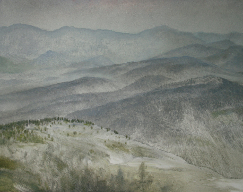 "Paktika Province (Afghanistan), 11"" x 14"", oil on panel, 2011"