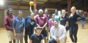 Halls Creek Level 0 Basketball Officiating participants with Basketball WA Representative Jess Byrnes.jpg