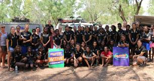 Participants and leaders at the 2015 Smarter than Smoking Kimberley Young Women's Leadership Camp