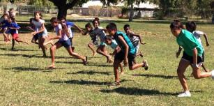Aspiring athletes honing their sprint skills at One Arm Point