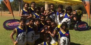 Halls Creek Cowboys take the Fremantle Dockers Shield back to the Desert for a second year in a row.