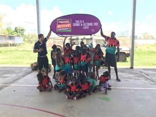 First Clinic with the Muludja Kids