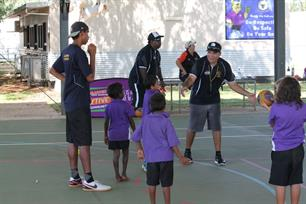 Deon, Darren and Chris putting the kids thru their paces