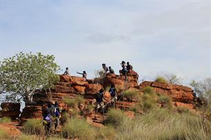 Hiking up Kelly's Knob in Kununurra.