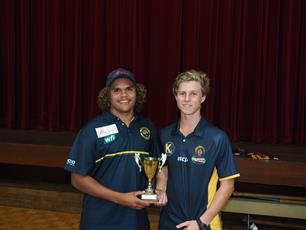 Claremont FC's Lewis Henry and Kimberley Spirit's Jordan Bacon