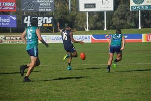 Junior Shandley using one of his elite kicks.