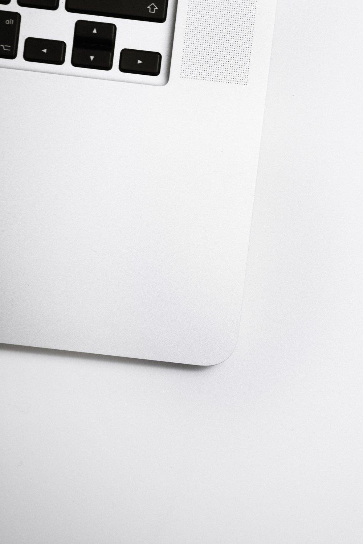 close up corner of laptop