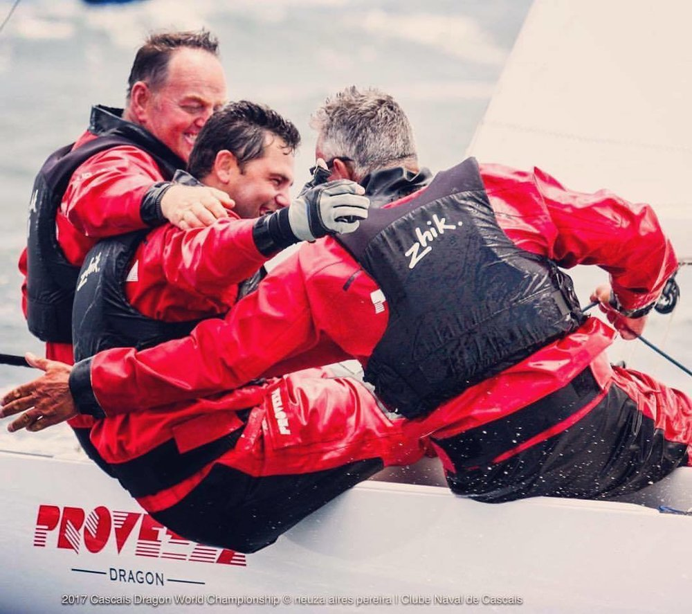 Provezza Sailing Team - 2019 Dragon Class World Champions - printed race-wear and vehicle livery supplied by Heatwave.