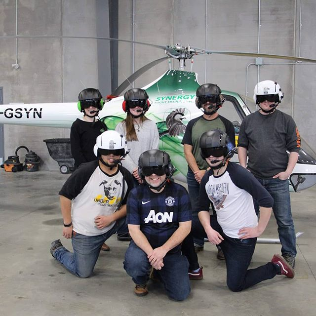 The flight school's looking pretty sharp in their new Paraclete helmets!  #paracleteaviationlifesupport #aviationcareers #safetyfirst #synergy #flightschool #albertacareers #helicopterhelmet #helicopterjobs #helicopter