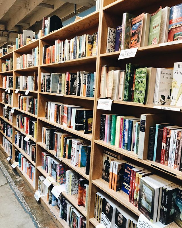 We are so lucky to be located so close to @powellsbooks 📚 Comment your favorite color-coded room at Powell's below!!