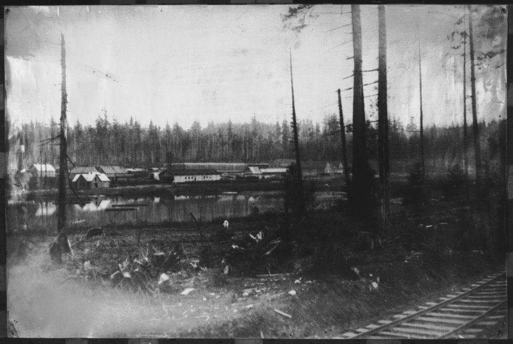 L 75.0545  Peter Kirk's Steel Mill, Kirkland. The Great Western Iron and Steel Works on Steel Works Lake (formerly known as Forbes Lake, now known as Lake Kirkland) c.1895