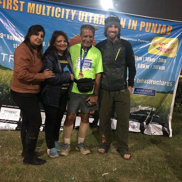 This man...I just can't even. 74 years of age and just finished 200km. #noexcuses #warriorofpunjab #sherepunjab