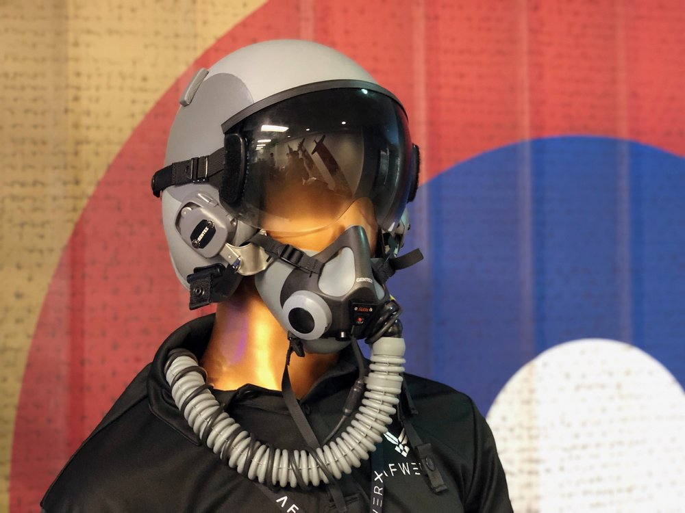 USAF Legacy Fixed Wing Helmet on display at the AFWERX Vegas event