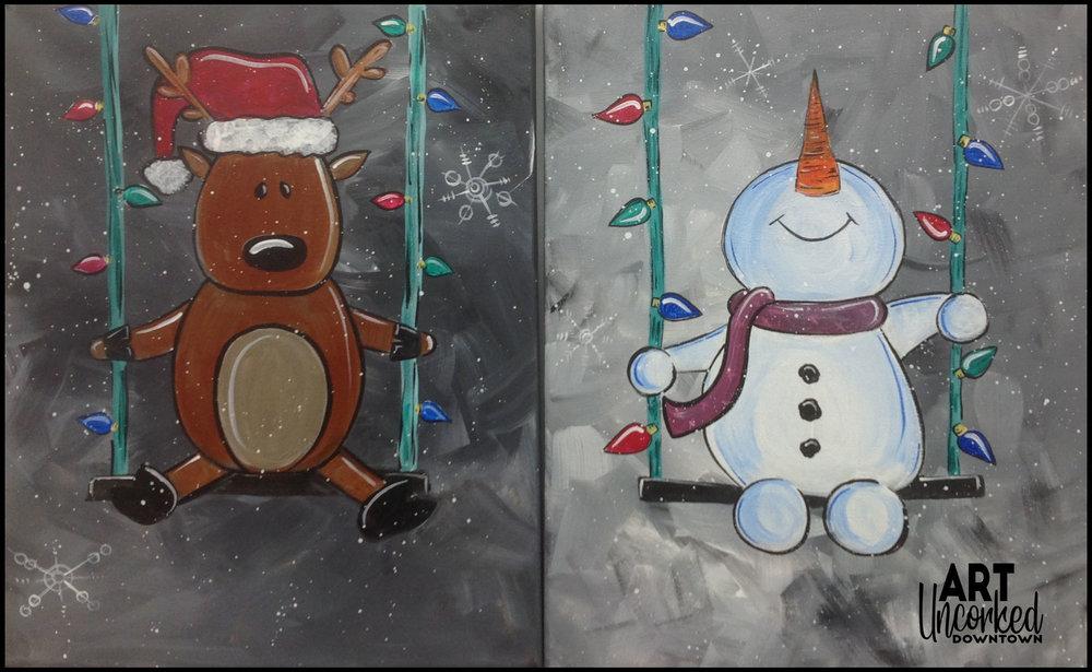 winter swinging winter snowman reindeer.jpg