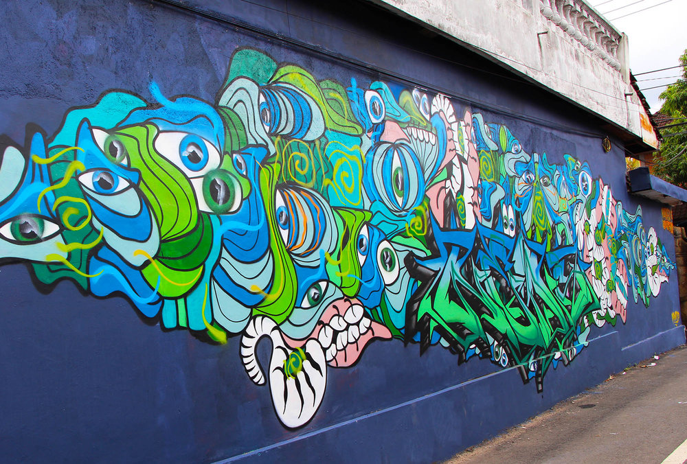 Collaboration with NEDS: Painted in Ubud, Bali as a part of my artist residency with Cata Odata