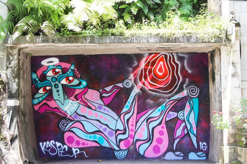 Power in my Hands painted in Ubud, Bali as a part of my artist residency with Cata Odata