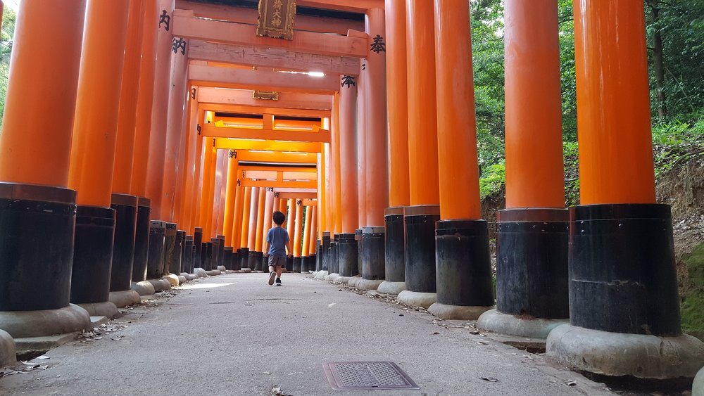 """Torii Gates at Fushimi Inari-Taisha Shrine"", Kyoto, Japan, 2018"