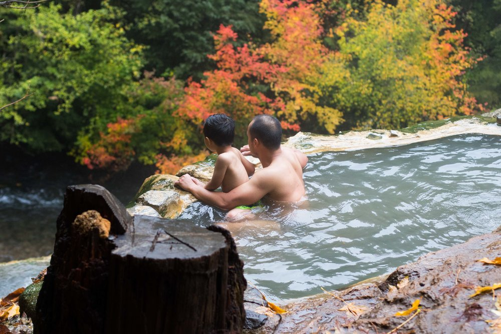 Relax and soak in some perfect temperature water -