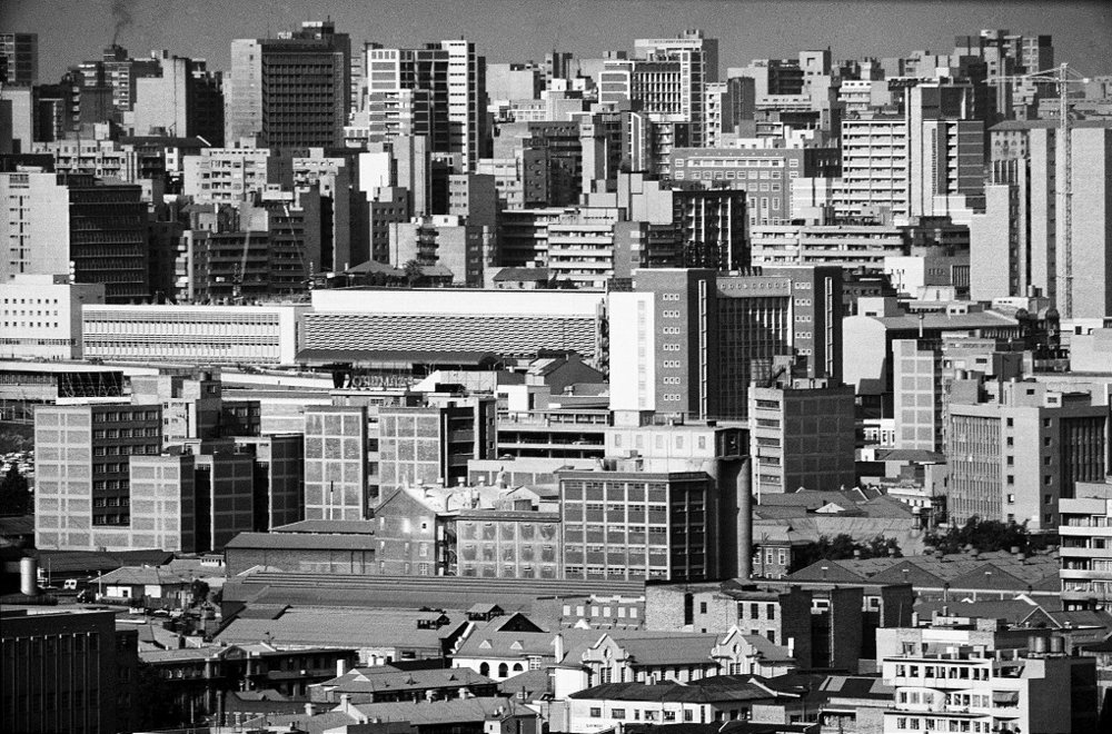 The city from the south-west, Johannesburg , Jan 1964