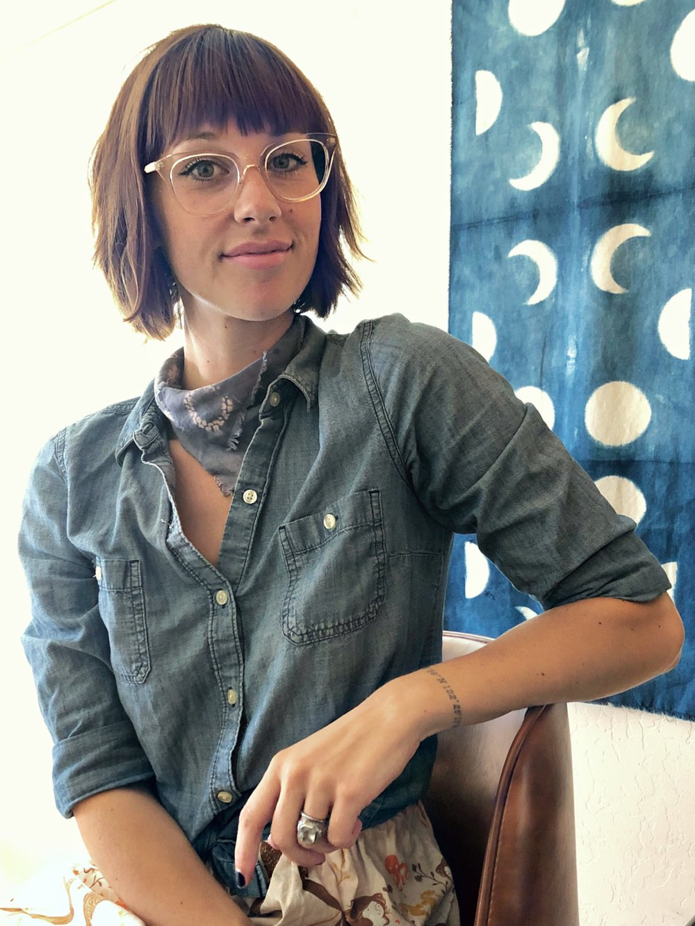 Kaitlin Bonifacio - Kaitlin studied the ancient art of Shibori in both Hawaii and Japan before relocating to Santa Cruz, California. A mother of two and owner of the Yuzu & Rose line of Shibori home and family products, she enjoys the magical process of hand dyeing, the challenge of creating natural, plant-based dyes of her own, and the joy of sharing her products and techniques with the community.Etsy: www.etsy.com/shop/YuzuAndRoseIG: @yuzuandrose
