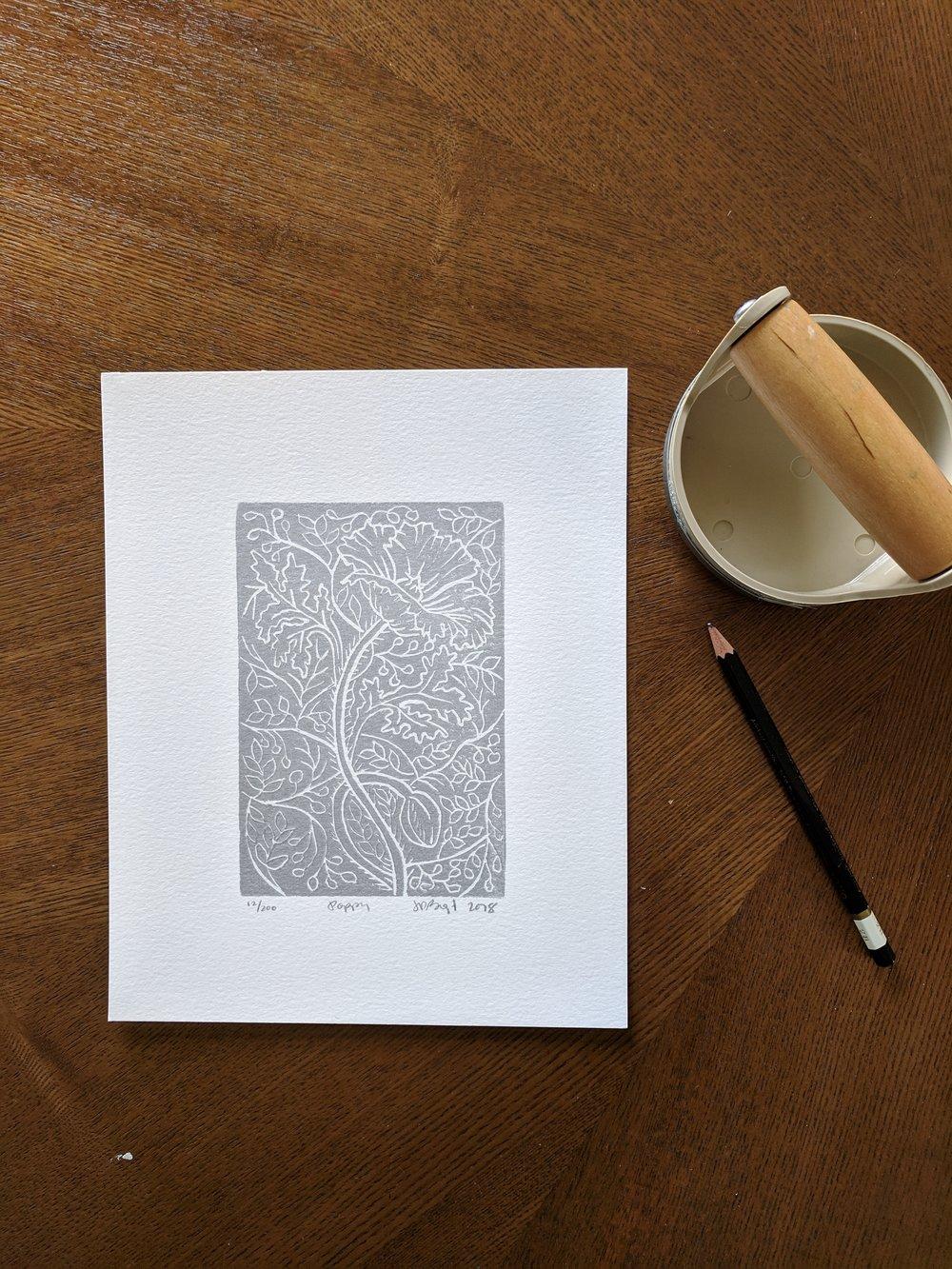 Poppy Block Print in Silver.jpg