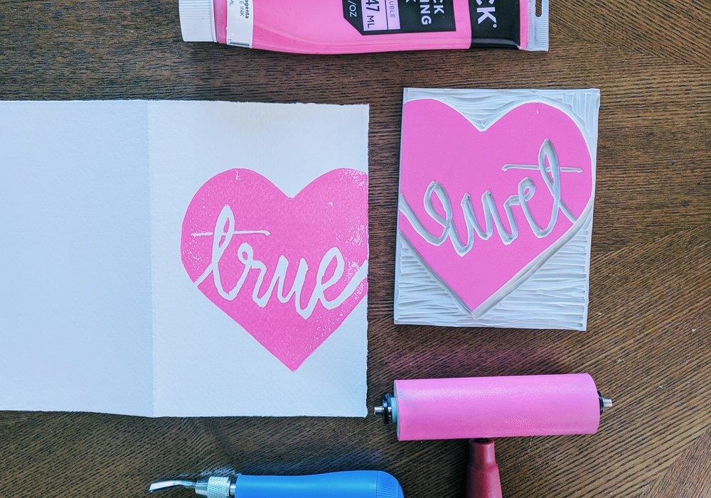 2 True Love Block and Printed Card.jpg