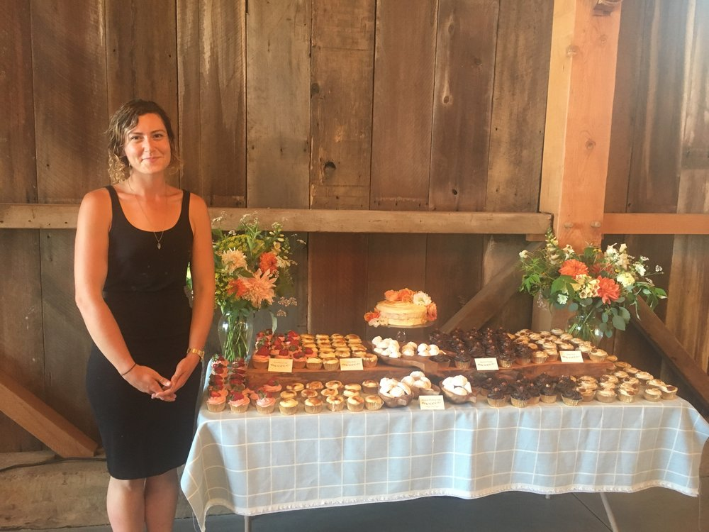 Ella Fleming - Ella Fleming is a Vegetable Garden Manager for Orchard Keepers, an edible landscaping company focused on ecological practices. Previously she was an instructor at the UCSC Farm and Garden program in the Alan Chadwick Garden, teaching organic farming and gardening skills to apprentices and undergraduate interns. She combines her passion for growing vegetables, fruit and flowers with her lifelong passion for baking. A love since childhood, Ella began baking when she was young and recently launched a small business, Flour.ish Baking Company, to share her joy for baking and organic ingredients with the Santa Cruz community. She loves working with her hands and in addition to baking and gardening, she is also a potter and an herbalist. She believes cakes and cupcakes are a meaningful element of celebrations and cake design is an art form filled with possibility and joy.IG: @flour.ishbakingco, @smella_fresh