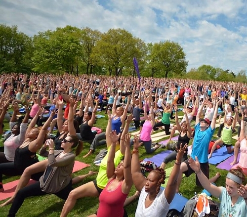 Yoga on the National Mall, Washington,DC