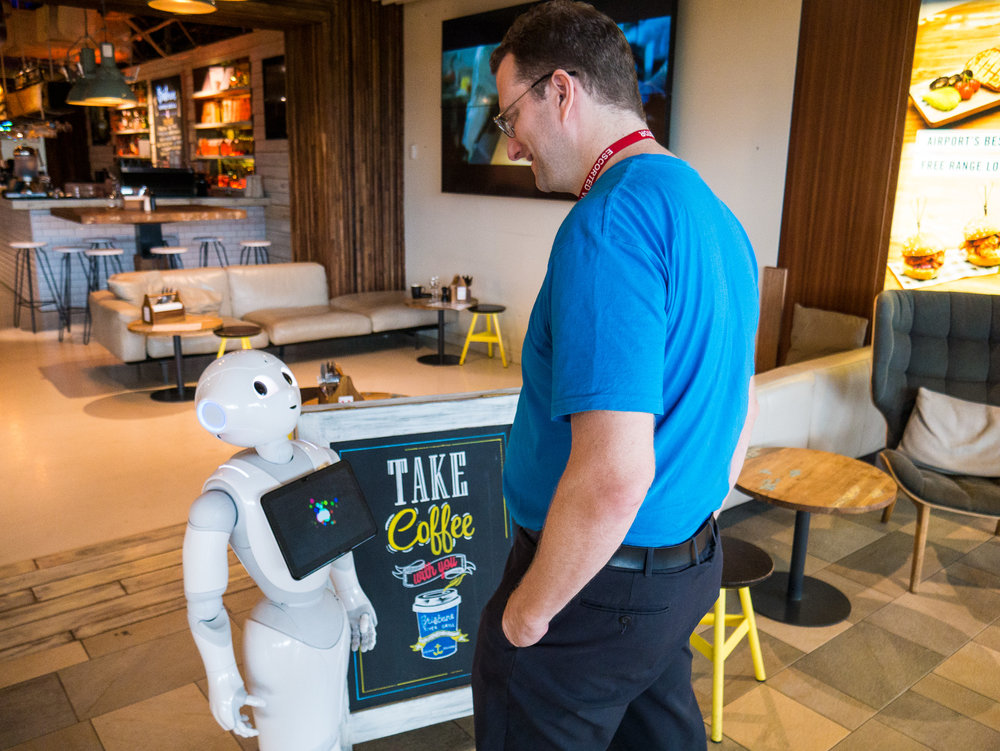 people love pepper - Pepper makes customer interactions a joy, and helps staff get the job done quicker and easier than ever before. Being a friendly and caring robot, Pepper is no stranger to praise, compliments and hugs.