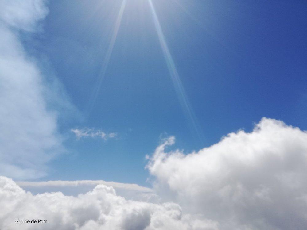 Au milieu des nuages…