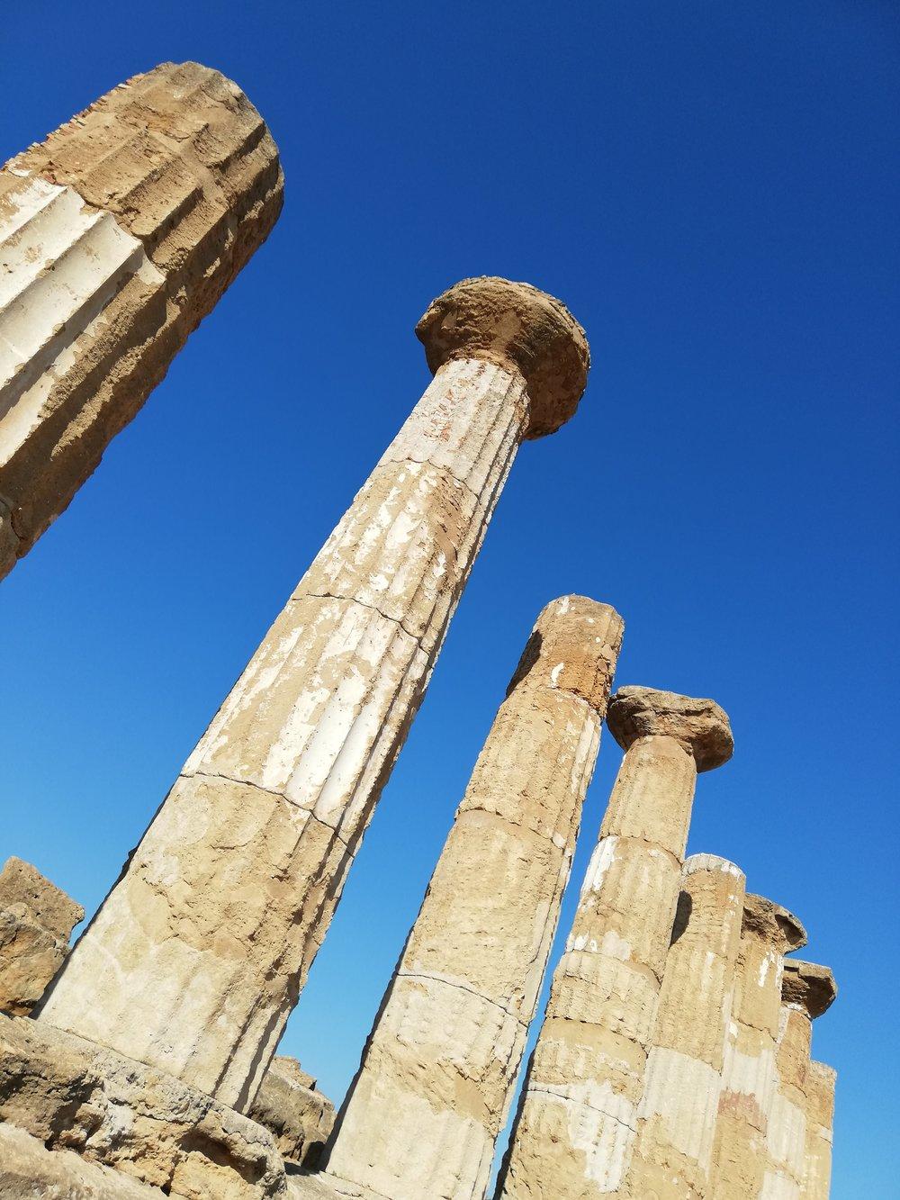 Les colonnes du temple d'Héraclès