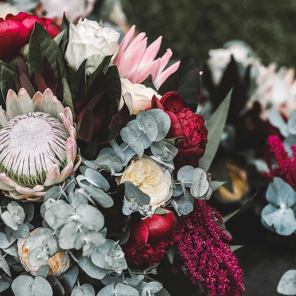 Phillip Island Winery flowers detail