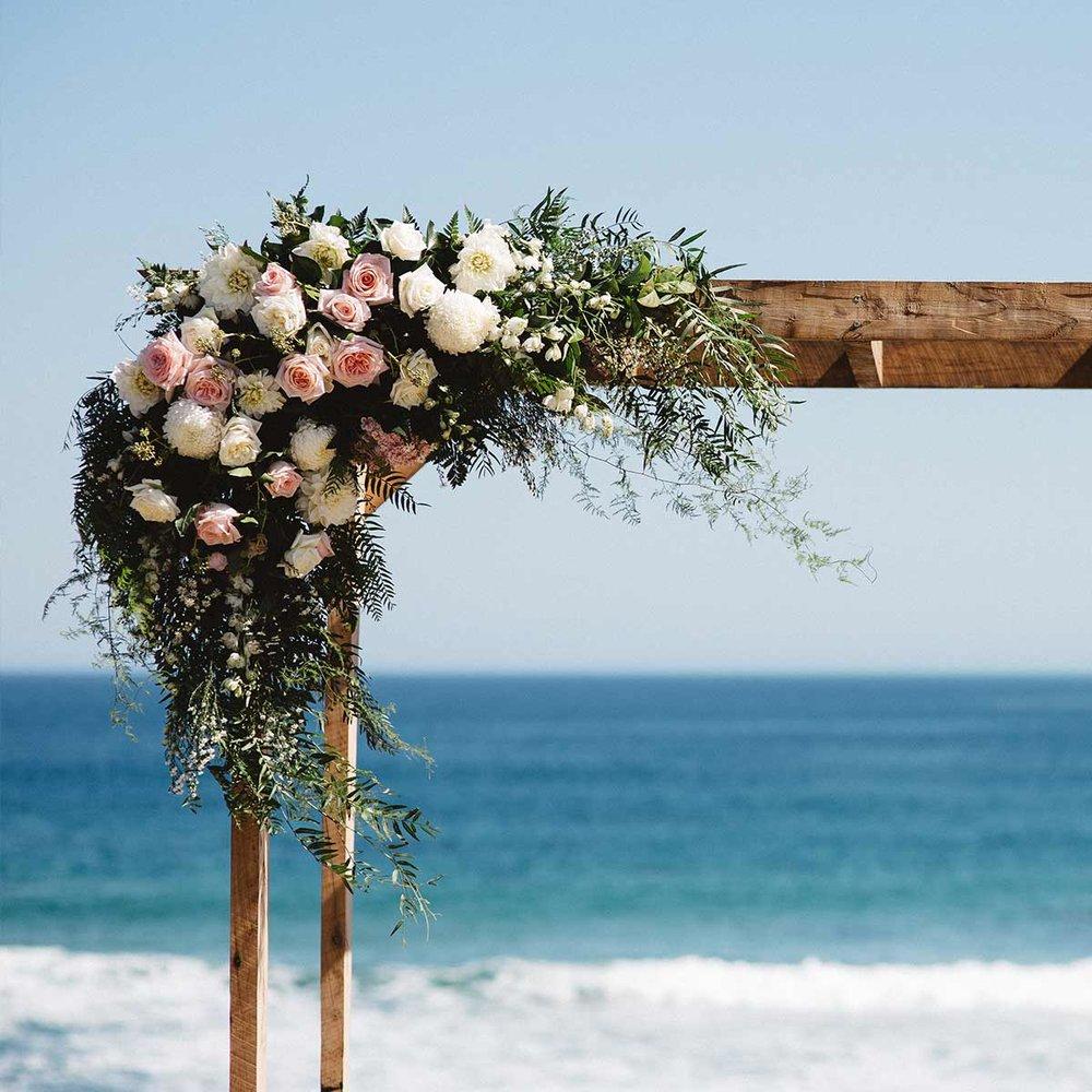 Phillip Island Winery flowers beach