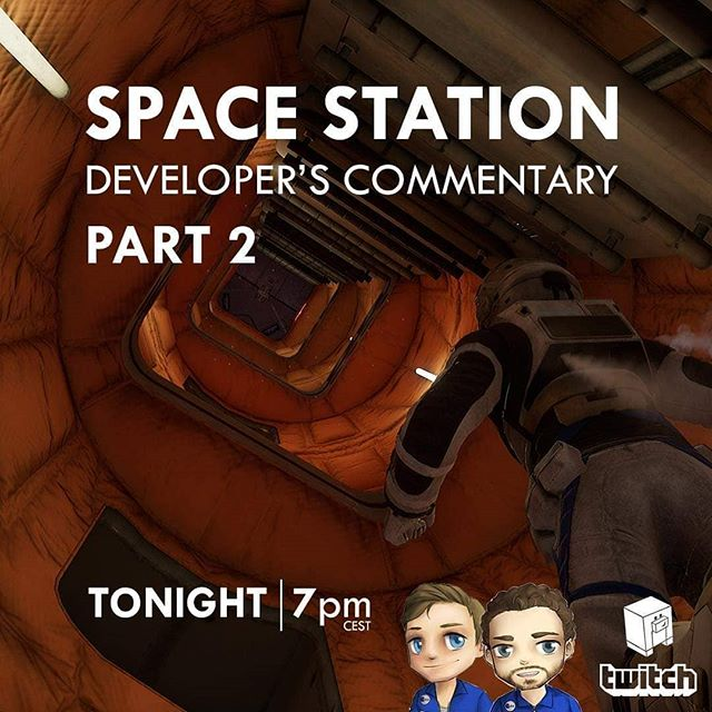 TONIGHT AT 7pm @koendeetman and @pauldeetman play PART 2 of SPACE STATION and give in-depth development commentary! https://www.twitch.tv/keoken_interactive #indiedev #gamedev #development #commentary #space #dutm #indepth