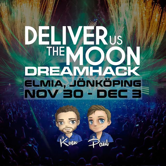 ‪We are heading for Sweden to showcase Deliver Us The Moon at @DreamHack in Jönköping. Make sure you look for the blue suits to talk to @PaulDeetman and @KoenDeetman for a romantic space date! #indiedev #gamedev #showcase #live #dreamhack‬ #space #astronaut #conference #indie #moon #travel #dutm #brothers #adventure #exploration #goodvibes #meet #network