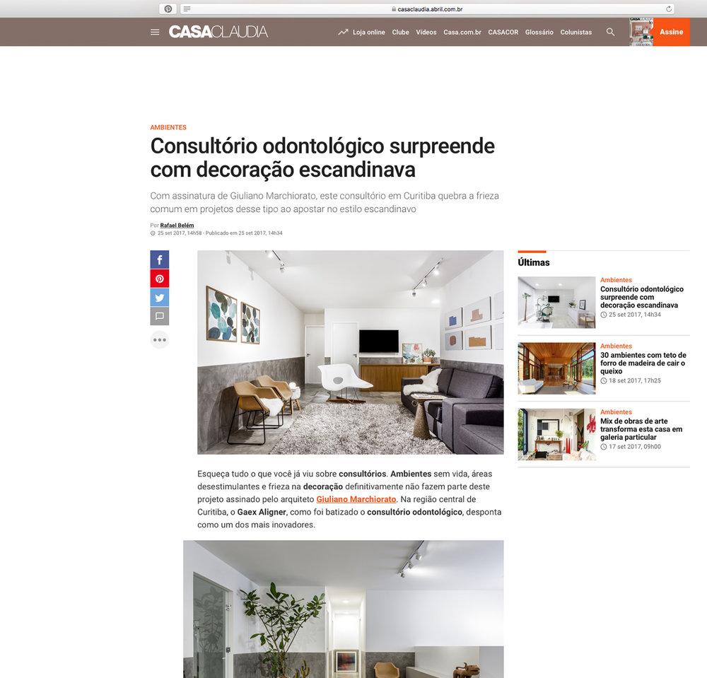 Clínica Gaex Aligner  Casa Cláudia |  Link