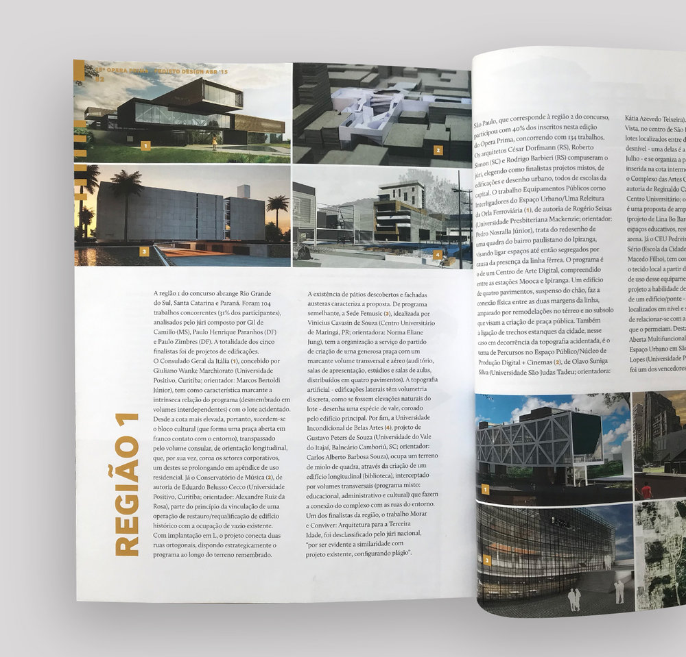 Revista Ópera Prima  Revista Projeto Design