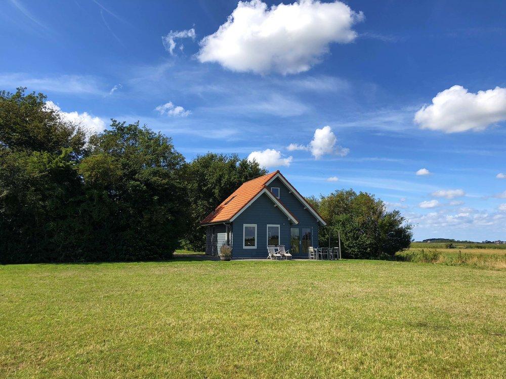 Blick auf Ferienhaus Velduil