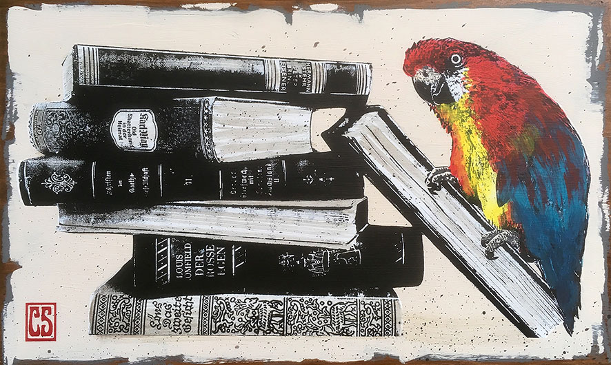 Meanwhile in the Library, 20x40cm, 2018