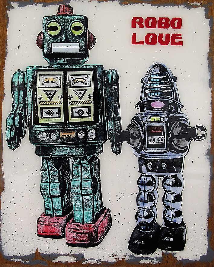 Robo Love, 40x60cm, 2018
